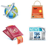 Travel and vacations icons. Part 1 — Stock Vector