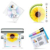 Vector print shop icon set. Part 6 — Stock Vector