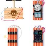 conjunto de iconos explosivos — Vector de stock