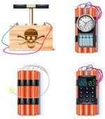 Set di icone esplosiva — Vettoriale Stock