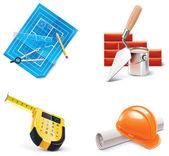 矢量住宅建筑和装修的图标集。第3部分 — 图库矢量图片