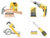 векторный икона set домостроительной & ремонт. часть 1 — Cтоковый вектор