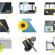 Vector video icons - Stock Vector