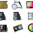Vector video icons - Stockvektor