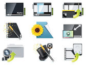 Vector video icons — Stock Vector