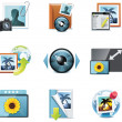 Vector photography icons. Part 4 - Stockvectorbeeld