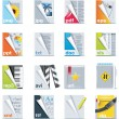 Set of the files and folders icons — Imagen vectorial