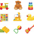Vector toy icons. Baby toys — Stock vektor #9110570