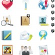 Vector social media icon set — Stock Vector