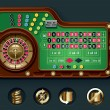 Royalty-Free Stock Vectorielle: Vector American roulette table layout