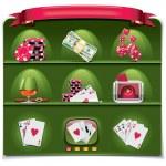 Vector gambling icon set. Part 1 (green) — Stock Vector
