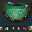 Royalty-Free Stock Vectorielle: Vector blackjack table layout