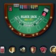 Vector blackjack table layout - Stock Vector