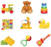 Vector toy icons. Baby toys — Stock Vector