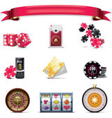 Vector gambling icon set. Part 2 (on white) — Stock Vector