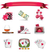 Vector gambling icon set. Part 1 (on white) — Stock Vector