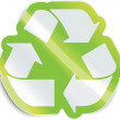 Vector recycle sticker - Imagen vectorial