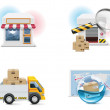 Vector shopping icon set and elements. Part 1 — Stock Vector