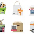 Vector shopping icon set and elements. Part 2 — Stock Vector