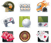 Vector video games iconen. deel 1 — Stockvector