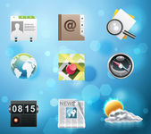 Applications and services icons — Stock Vector