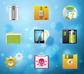 ícones de aplicativos e serviços — Vetor de Stock