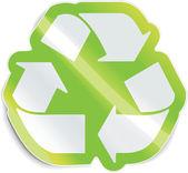 Vector recycle sticker — Stock Vector