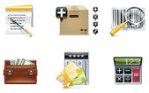 Vector shopping icon set and elements. Part 4 — Stock Vector