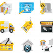 Vector real estate icons. Part 2 — Stockvectorbeeld