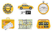 Vector taxi service icons. Part 1 — Stock Vector