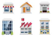 Vector real estate icons. Part 1 — ストックベクタ
