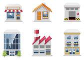 Vektor-immobilien-symbole. teil 1 — Stockvektor