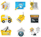 Vector real estate icons. Part 2 — Stock Vector