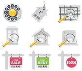 Vector real estate icons. Part 3 — Stock Vector