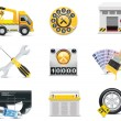 Stock Vector: Car service icons. Part 2