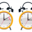 Vector daylight saving time - Imagens vectoriais em stock