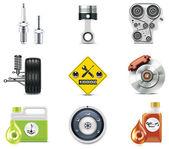 Iconos de auto servicio. parte 3 — Vector de stock