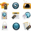 Vector television icons - Stock Vector