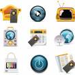 Vector television icons — Stock Vector