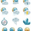 vector weather forecast icons. part 2 — Stock Vector