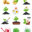 Vector gardening icon set — Stock Vector #9224365