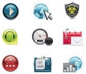 Vetor ícones de rede e internet. parte 2 — Vetorial Stock