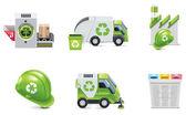 Vector trash recycling icon set — Stock Vector