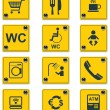 Vector roadside services signs icon set. Part 2 — 图库矢量图片