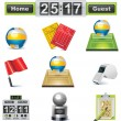 Vector volleyball icon set - Stock Vector