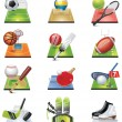 Stock Vector: Vector sport icon set