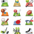 Vector sport icon set - Stock Vector