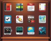 Iconos de las aplicaciones — Vector de stock