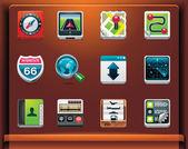 GPS navigation icons — Stockvector