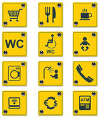 Vector roadside services signs icon set. Part 2 — Stock Vector
